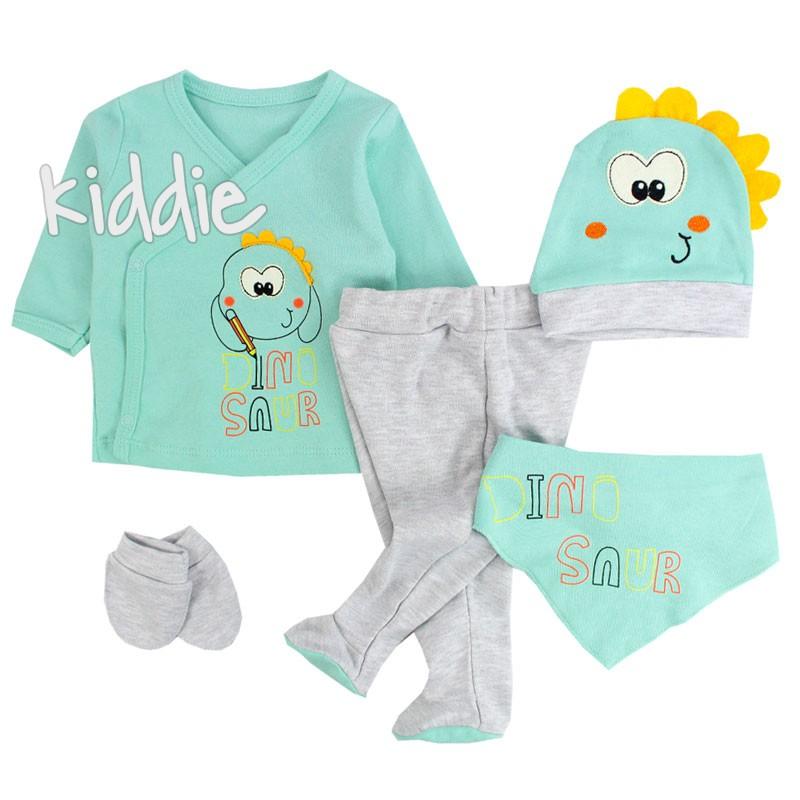 Бебешки комплект 5 части Nonna Baby Dinosaur за момче
