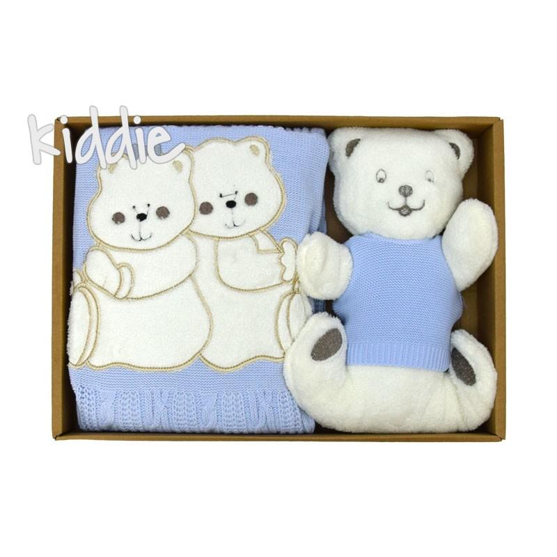 Бебешка пелена с мека играчка Babymy