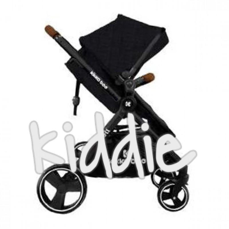 Kikka Boo Бебешка количка Bali Zen 2 in 1 седалка и зимен кош Melange Black
