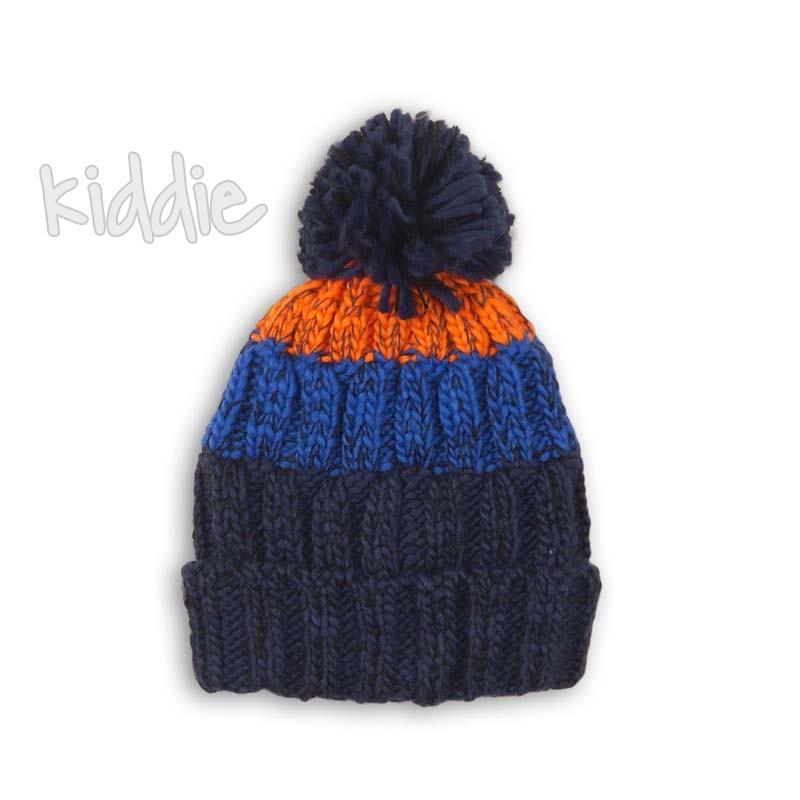 Бебешка плетена шапка Minoti за момче