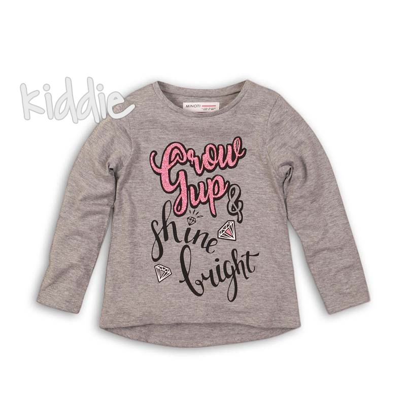Детска блуза Minoti shine bright за момиче