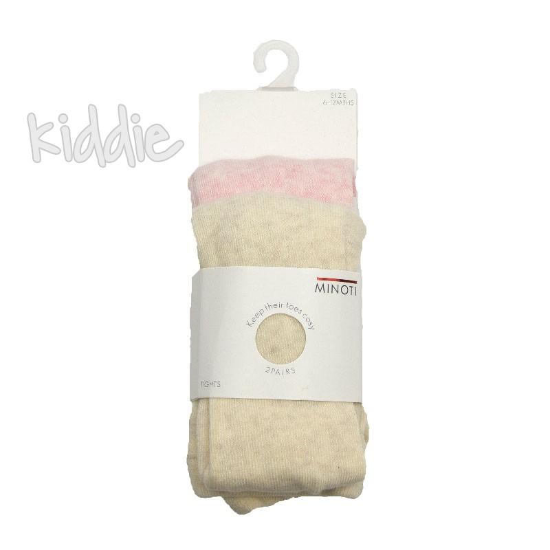 Бебешки комплект Minoti от 2 чифта чорапогащници