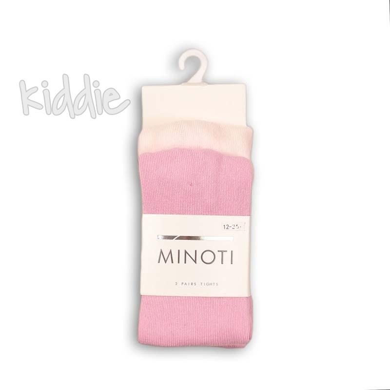 Бебешки комплект Minoti от 2 бр. чорапогащници за момиче