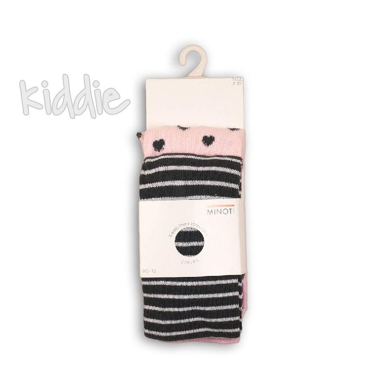 Комплект бебешки чорапогащници Minoti за момиче