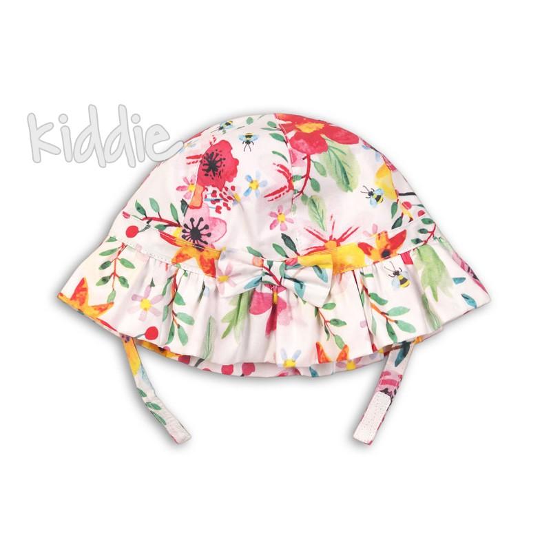 Бебешка шапка Minoti на цветя за момиче