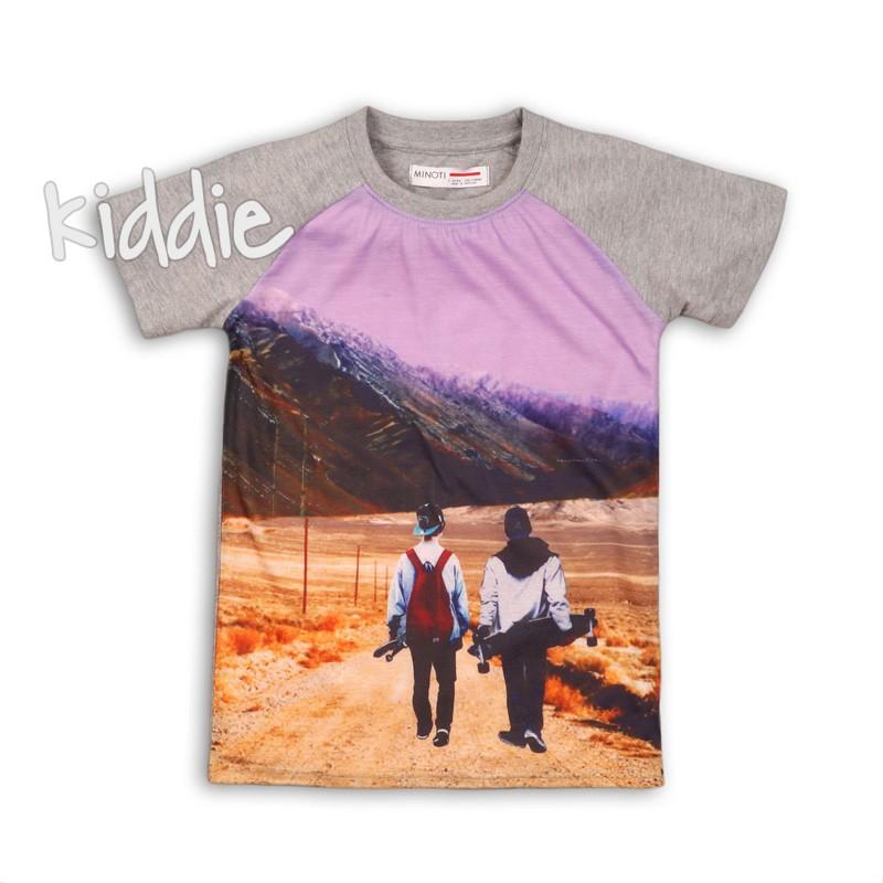 Детска тениска Minoti за момче с принт