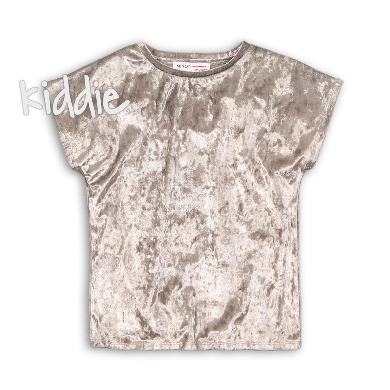 Детска тениска Minoti от кадифе за момиче
