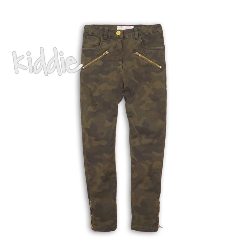 Детски камуфлажен панталон за момиче Minoti