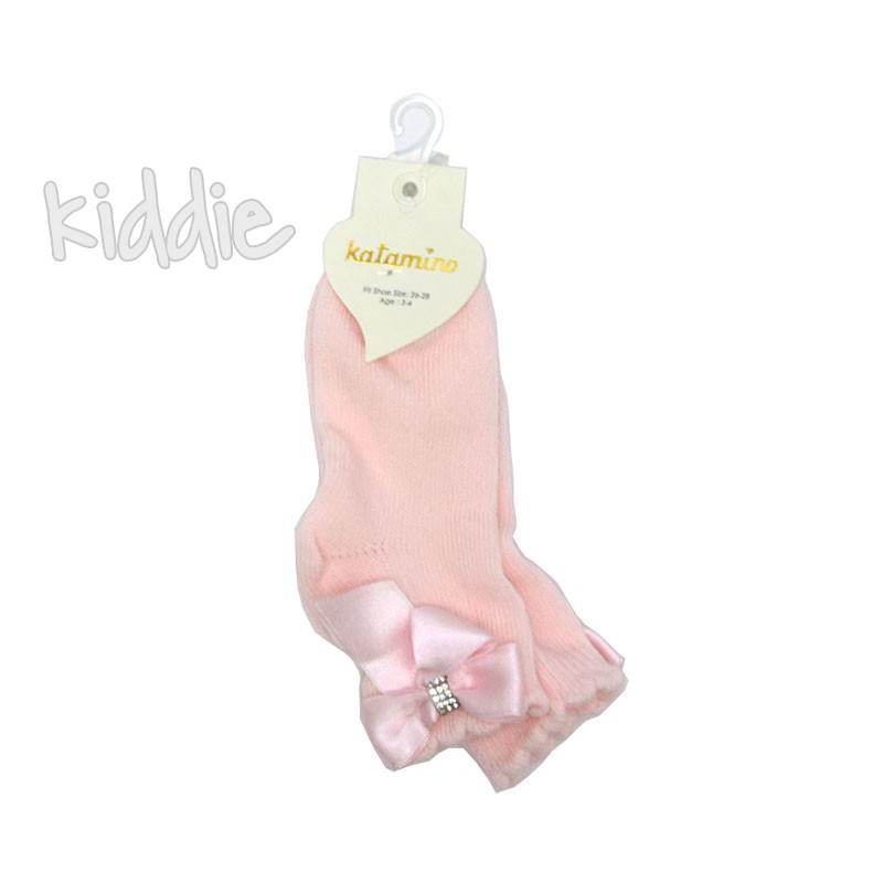 Детски къси чорапи Katamino панделка от сатен
