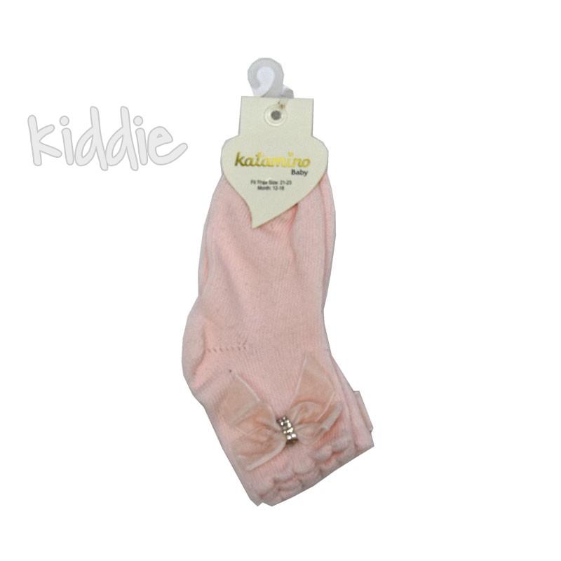 Бебешки къси чорапи Katamino панделка