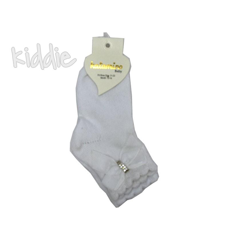 Бебешки къси чорапи Katamino панделка от сатен