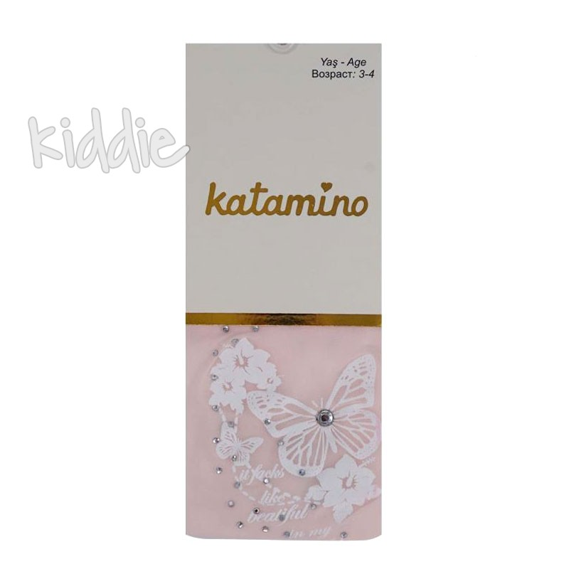 Детски чорапогащи Katamino за момиче с пеперуда