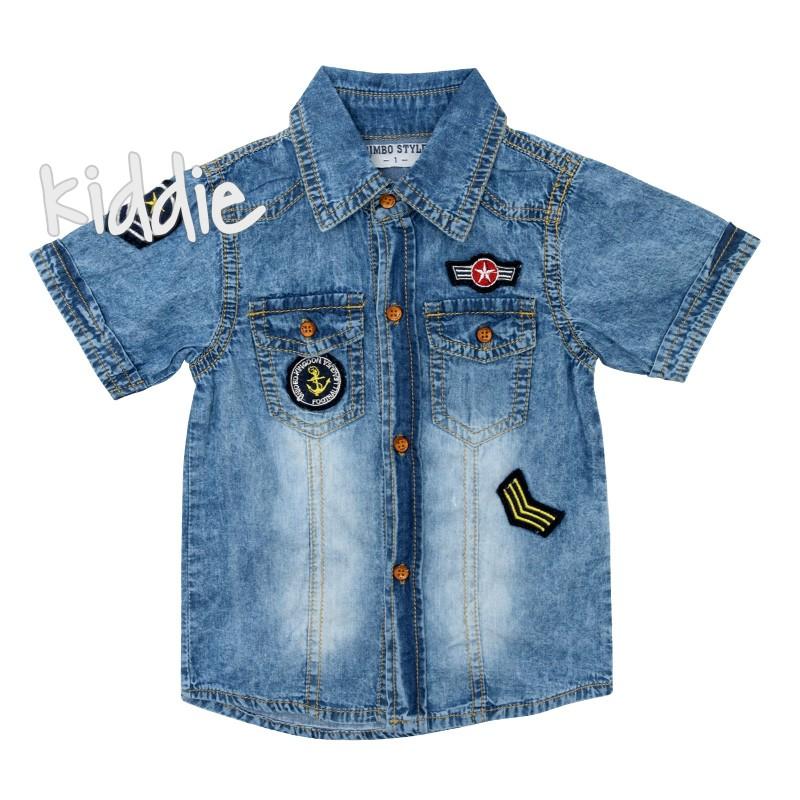c356dc390ac Детска дънкова риза за момче